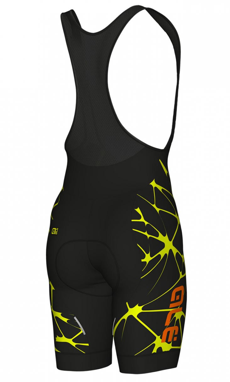 ... ALE Crackle Solid Yellow Bib Short Rear d38a6c08d