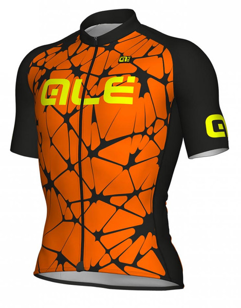 ALE' Crackle Solid Orange Fluo Jersey