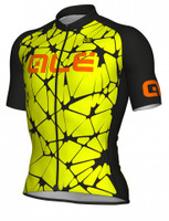 ALE' Crackle Solid Yellow Fluo Jersey