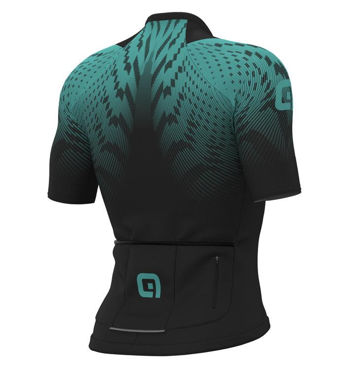 ALE' Pro Race R-EV1 Aero Skinsuit Style Turquoise Jersey Rear