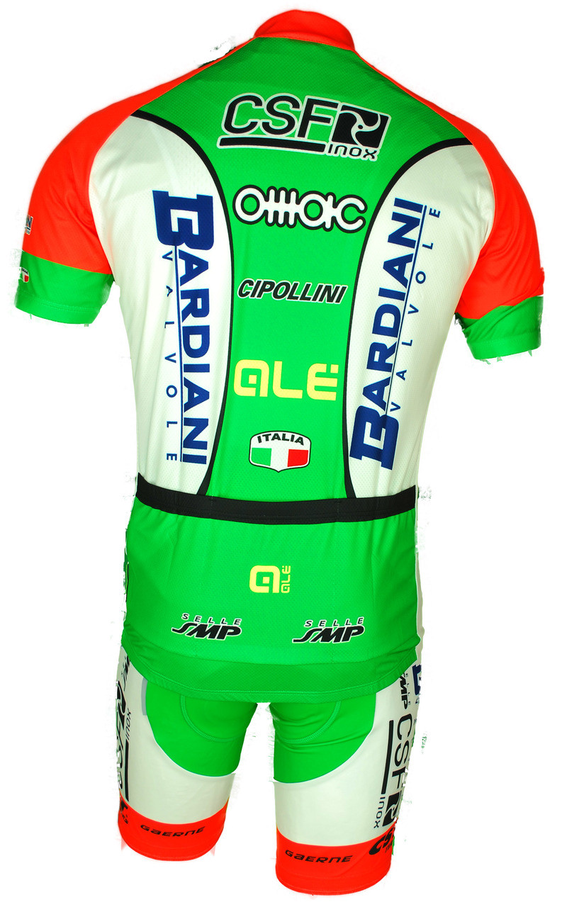 2018 Bardiani CSF Full Zipper Jersey Rear