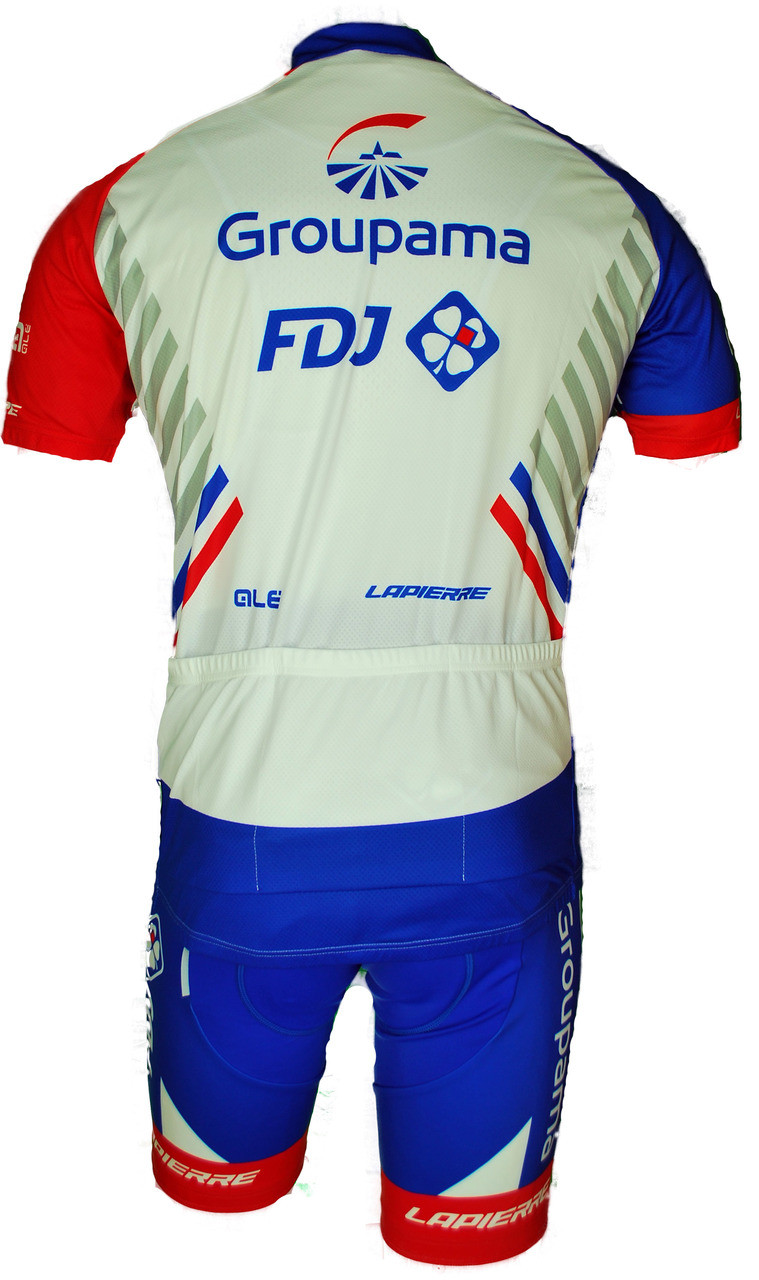 2018 Groupama FDJ Full Zipper Jersey Rear