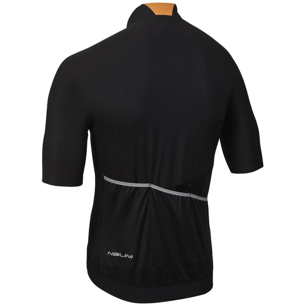 Nalini Stelvio Black Orange Jersey Rear