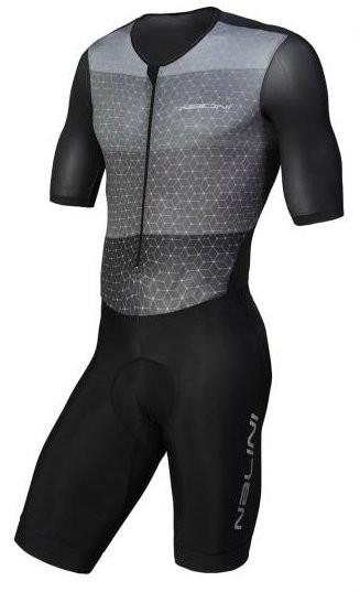 Nalini Ancares Charcoal Black Skin Suit