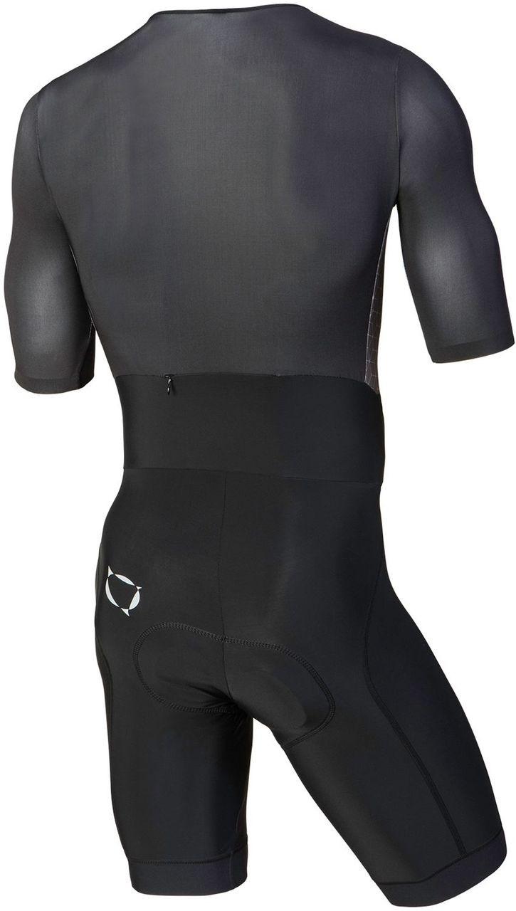 Nalini Ancares Charcoal Black Skin Suit Rear