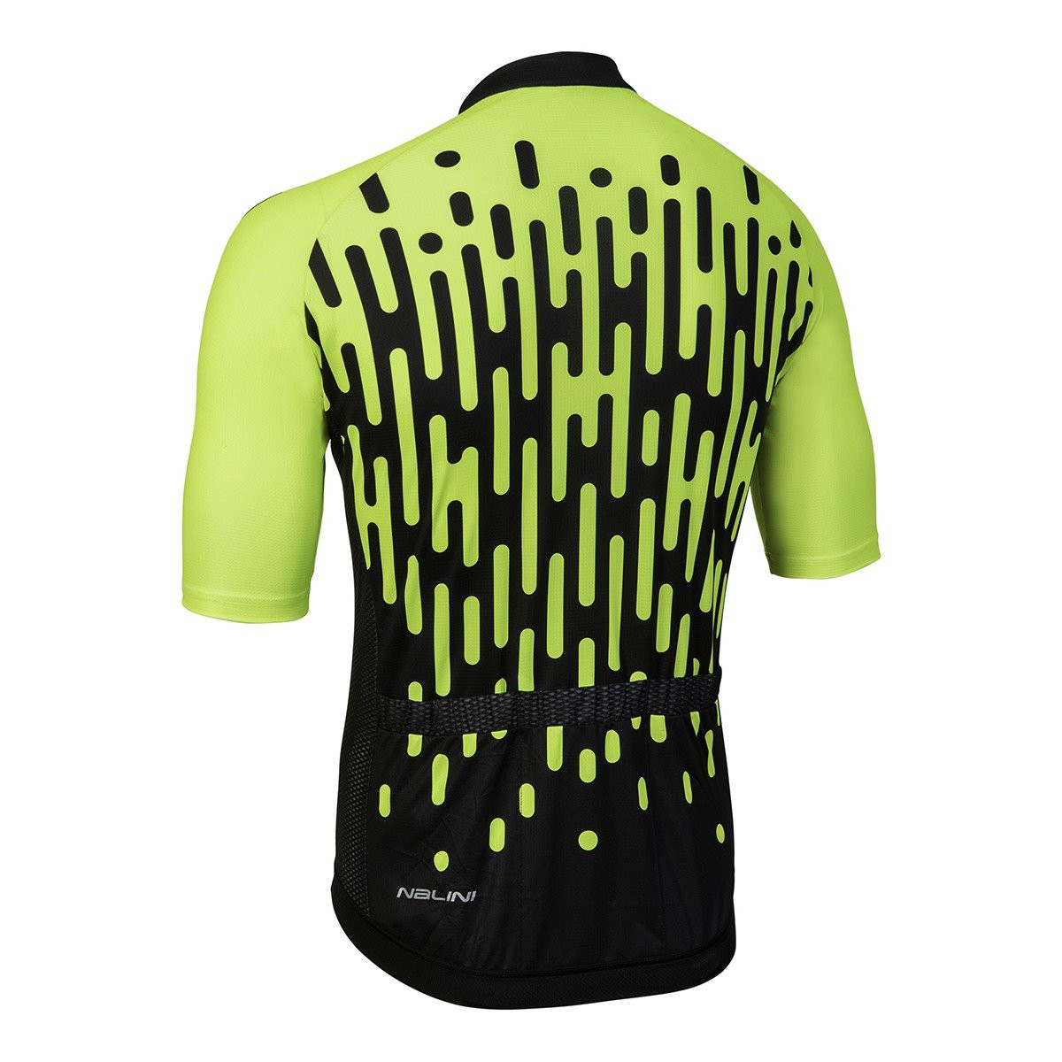 Nalini Podio Yellow Fluo Black Jersey Rear