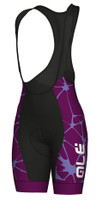 ALE' Cracle Solid Violet Women's Bib Shorts