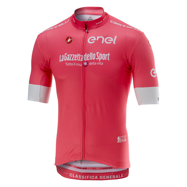 2018 Giro D Italia Pink Leaders Full Zip Jersey