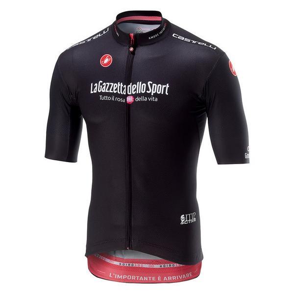 2018 Giro D Italia Black Pink Full Zip Jersey