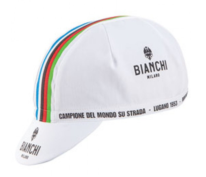 Bianchi Milano Neon White Cap Front View