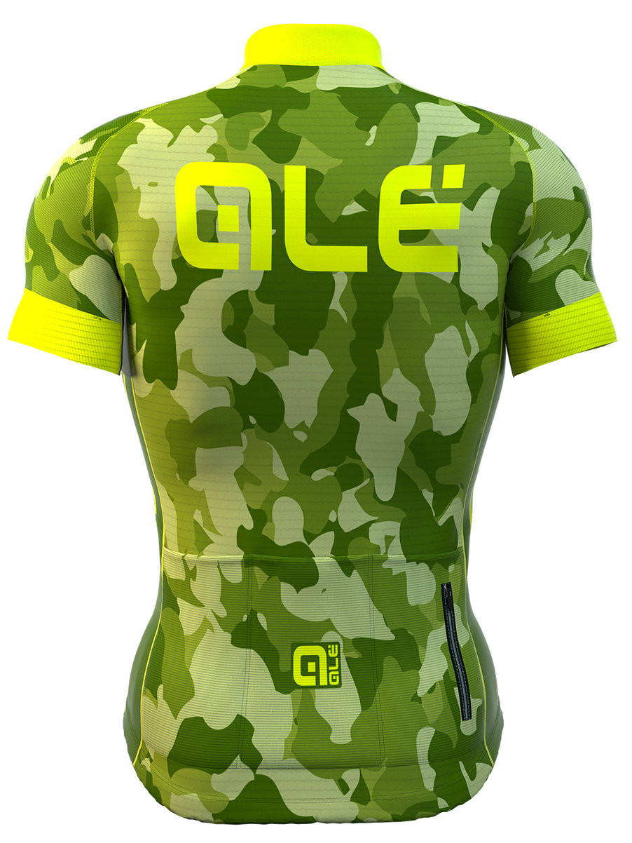 ALE PRR  CAMO Yellow Fluo Jersey Rear