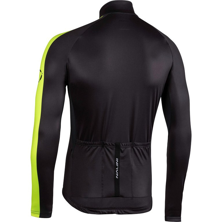 Nalini AHW LW Jersey Black Fluo Long Sleeve Jersey Rear