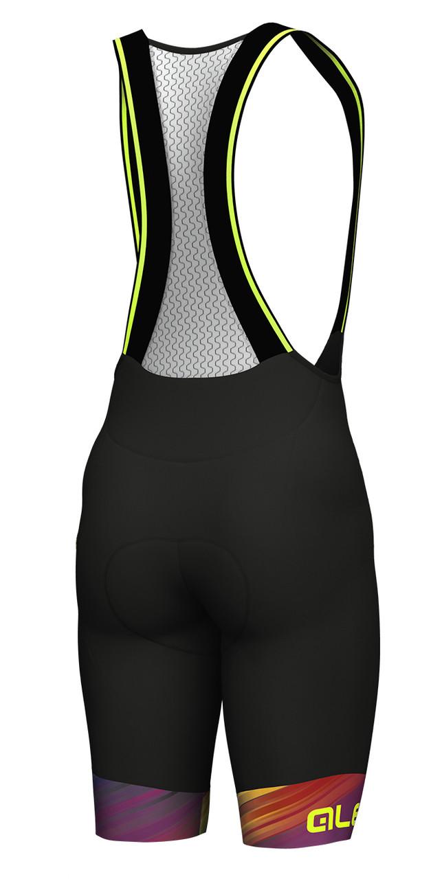 ALE Multicolor Black Bib Shorts Rear