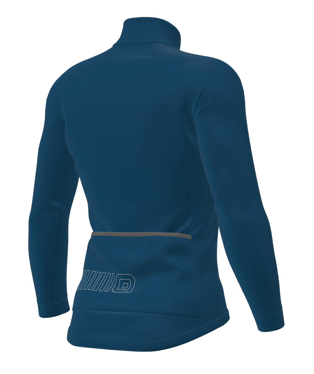 ALE' Winter Solid Thermal Blue Jacket Rear