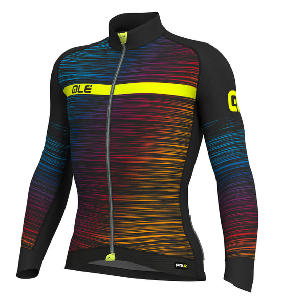 ALE' The End PRR Black Yellow Long Sleeve Jersey