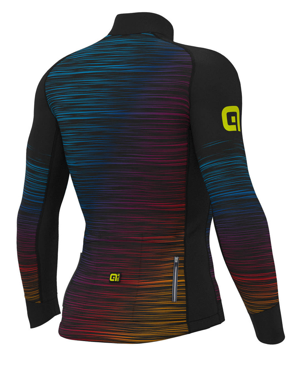 ALE' The End PRR Black Yellow Long Sleeve Jersey Rear