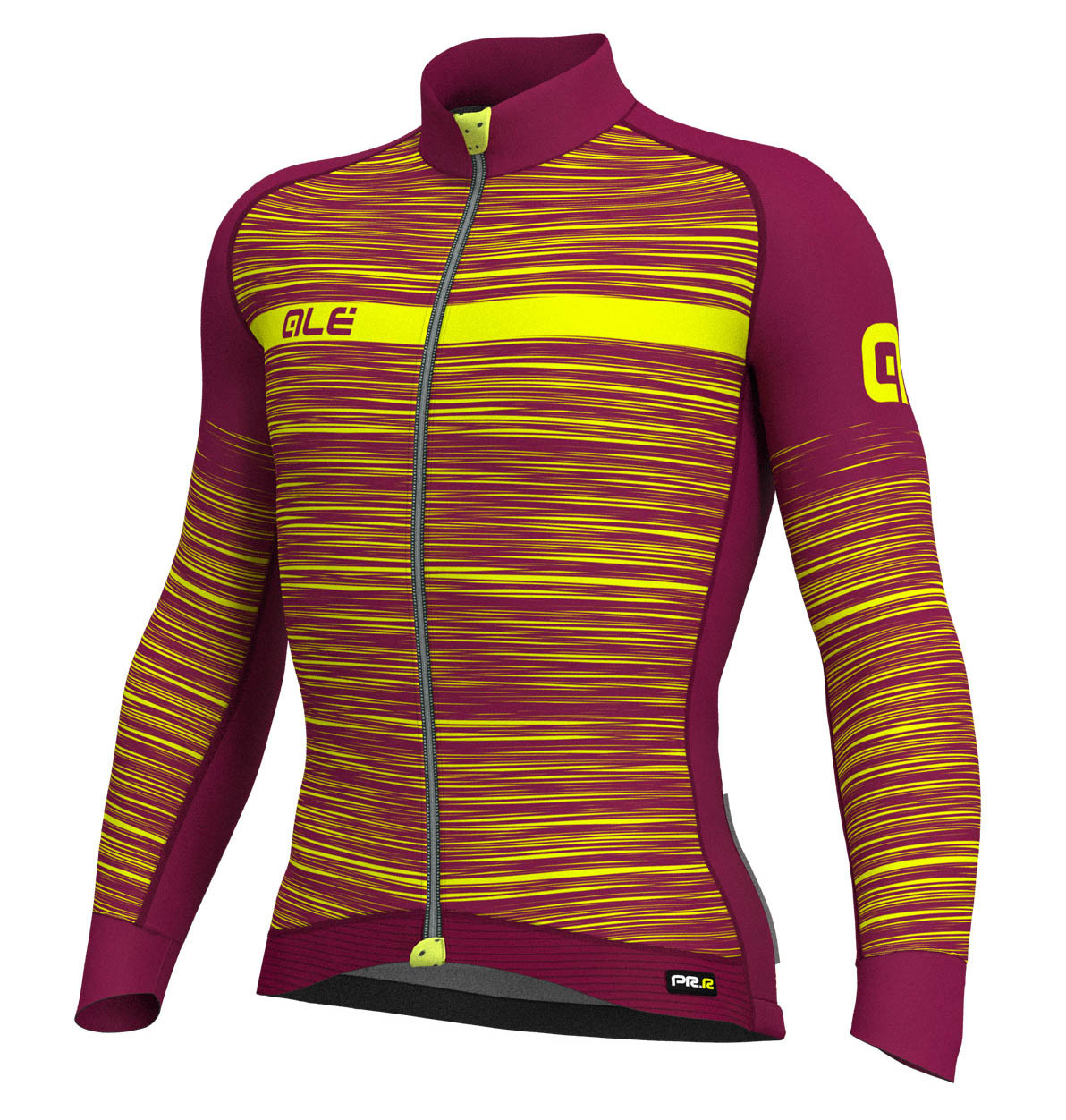 ALE' The End PRR Purple Yellow Long Sleeve Jersey