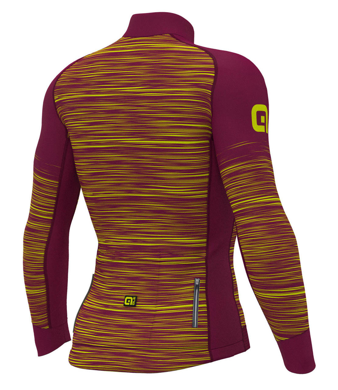 ALE' The End PRR Purple Yellow Long Sleeve Jersey Rear