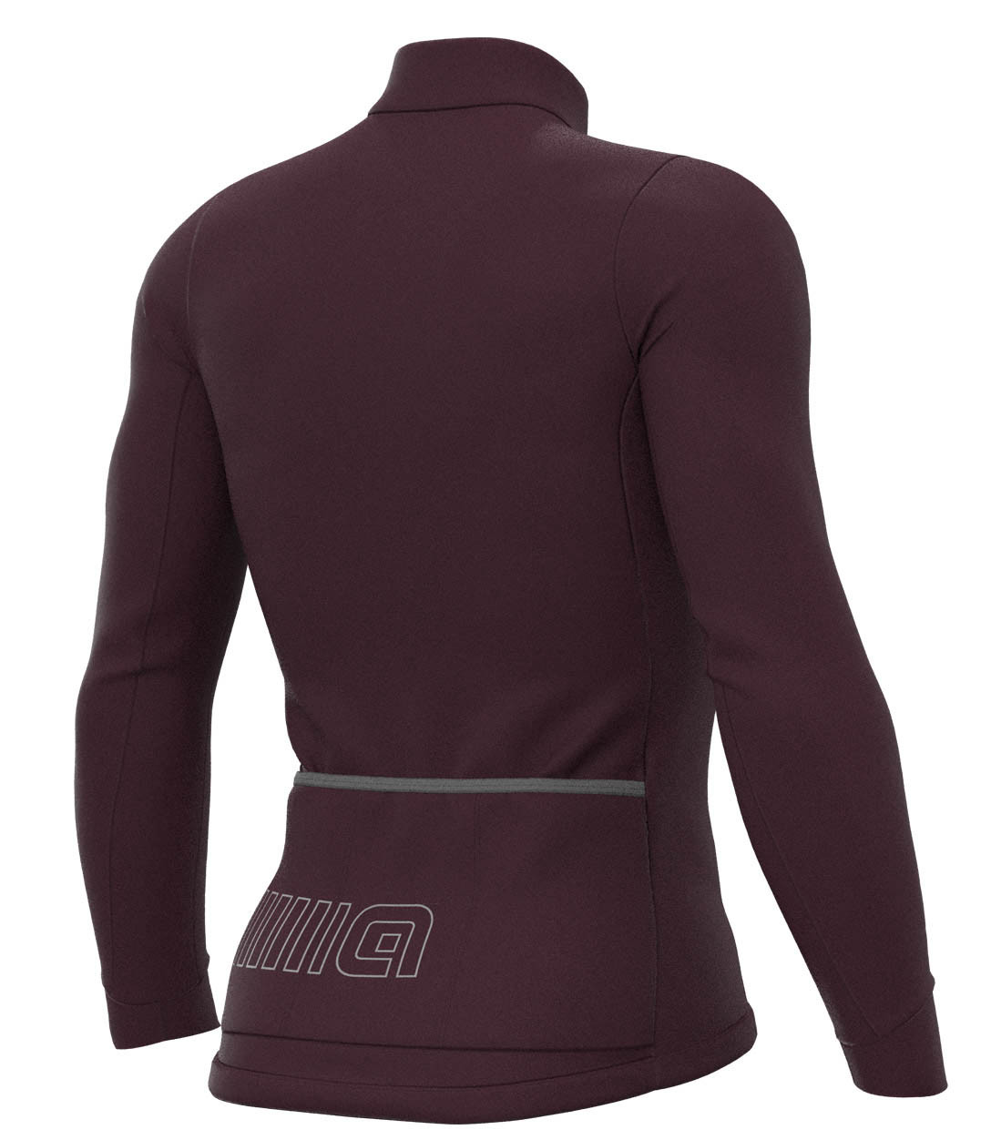 ALE' Color Block Solid VinoLong Sleeve Jersey Rear