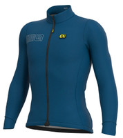 ALE' Color Block Solid Blue Long Sleeve Jersey