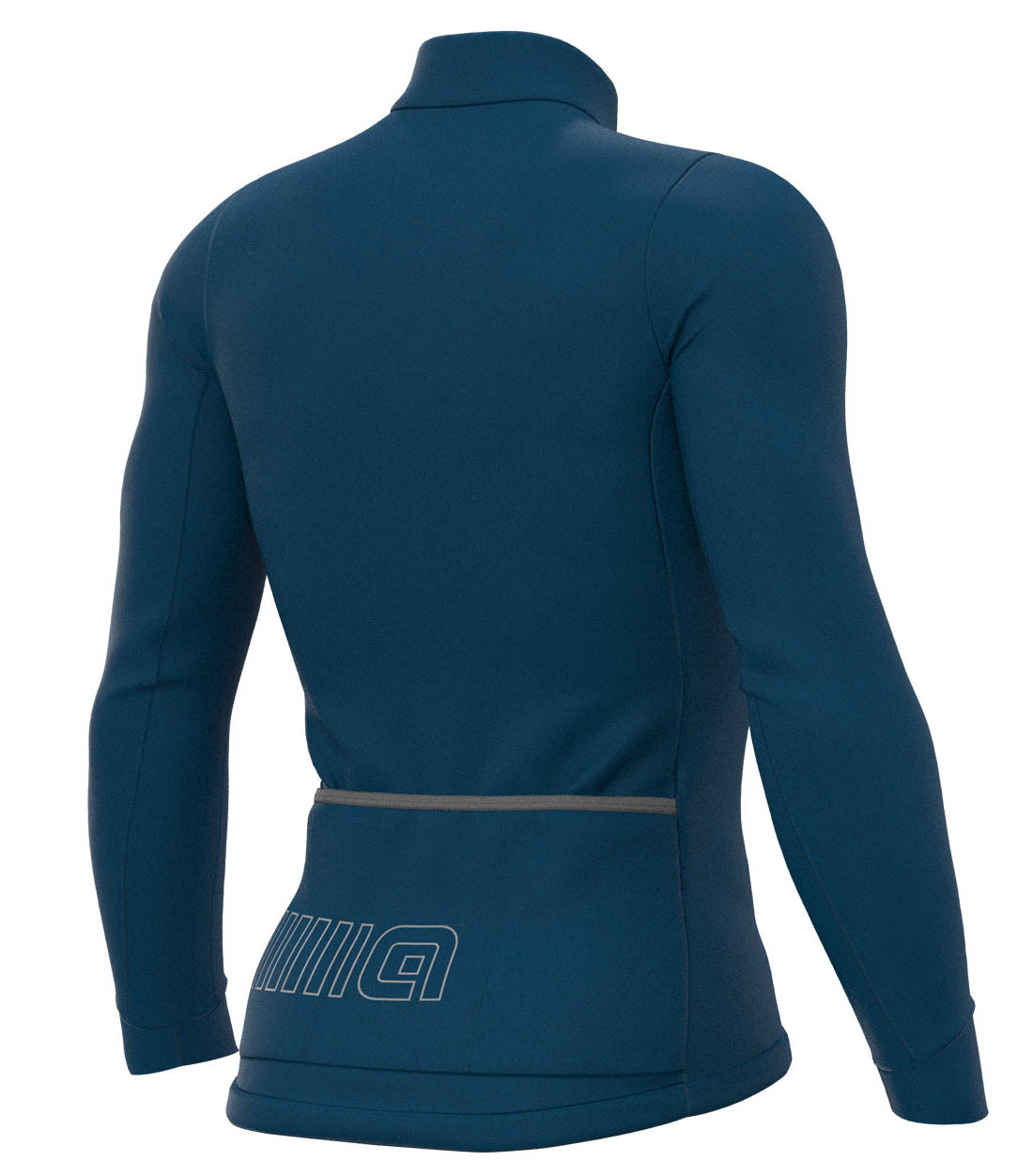 ALE' Color Block Solid Blue Long Sleeve Jersey Rear