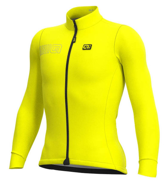 ALE' Color Block Solid Yellow Long Sleeve Jersey