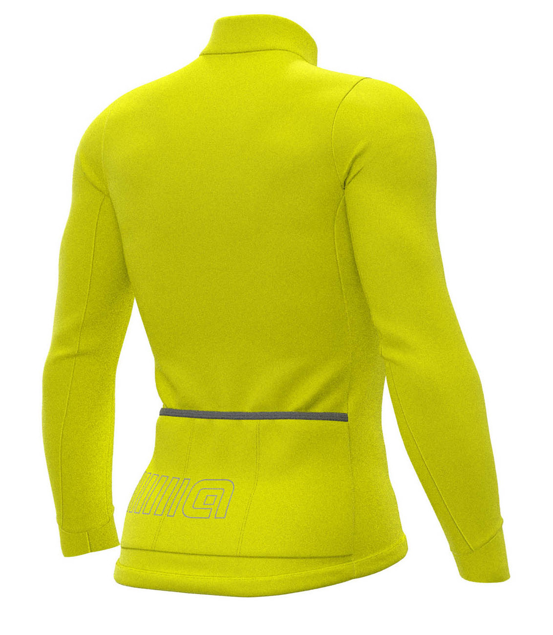 ALE' Color Block Solid Yellow Long Sleeve Jersey Rear