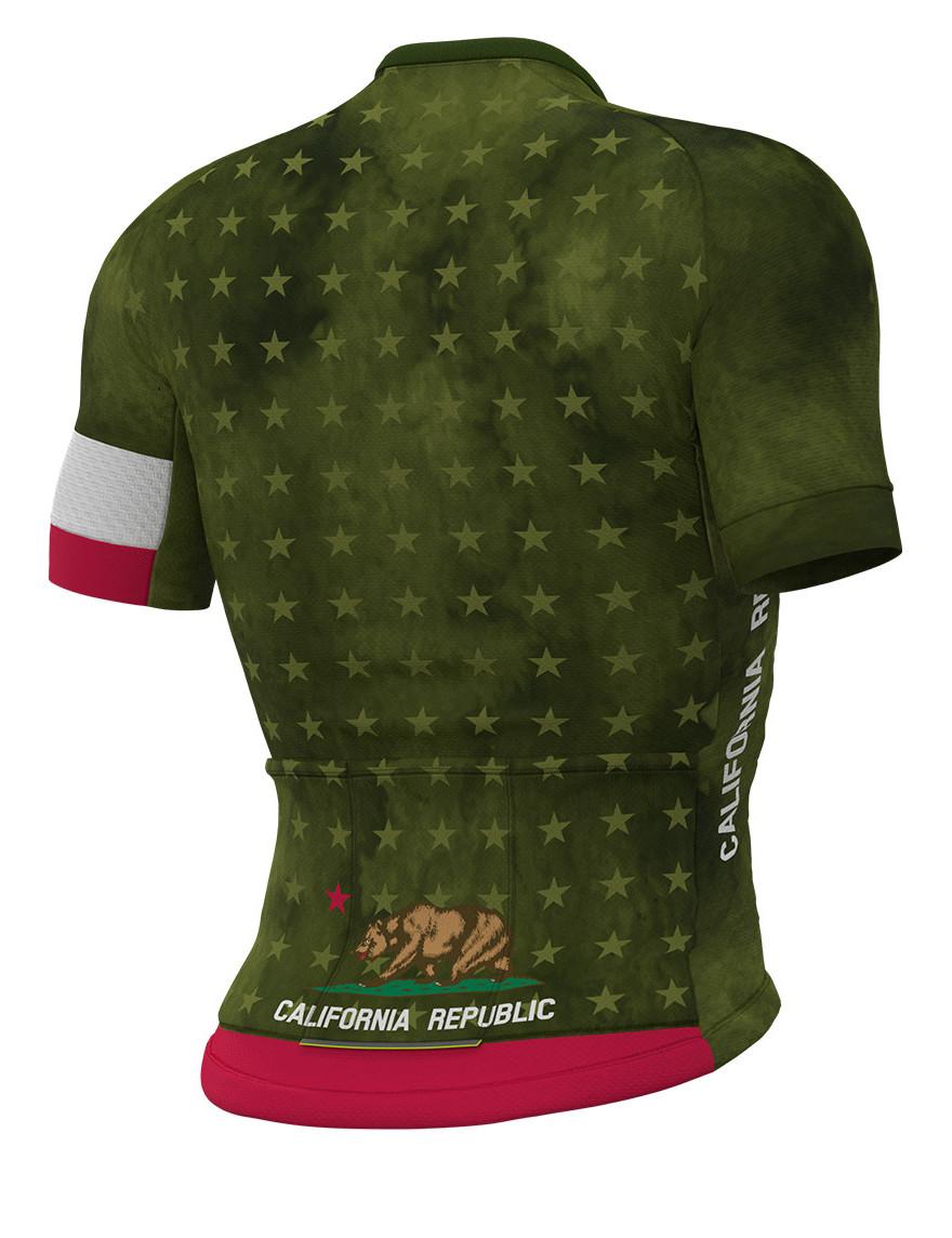 ALE' California Republic Green Jersey Rear