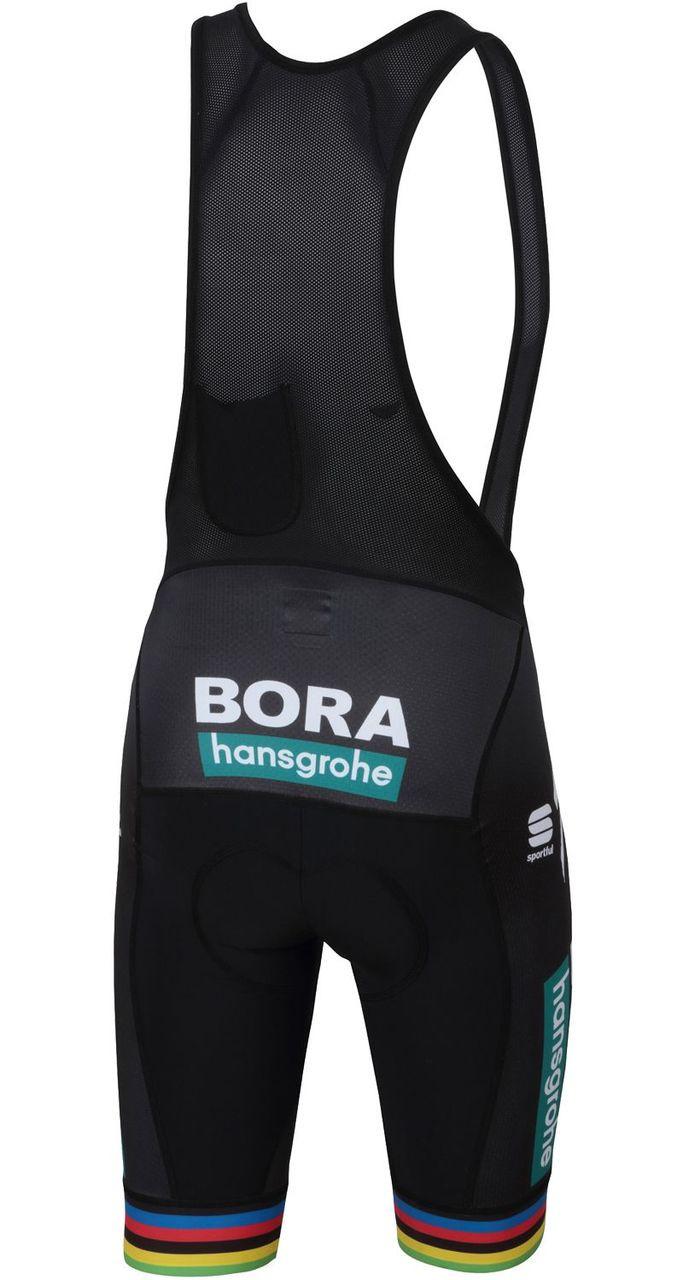 f236c3a39cdb0 ... Bora Hansgrohe Sagan World Champ Rainbow Bib Shorts Rear ...