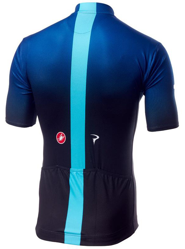 2019 Sky Fan Blue Black Full Zip Jersey Rear