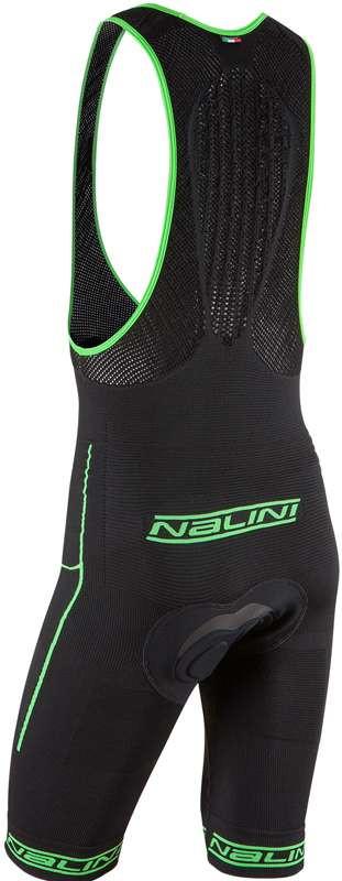 Nalini San Zeno Seamless Black Fluorescent Bib Shorts  Rear