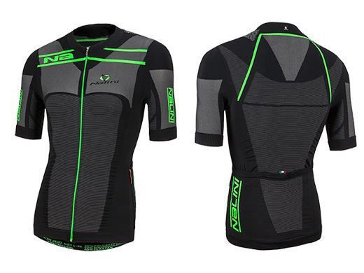 Nalini San Zemo Black Seamless Fluorescent Jersey Front Back