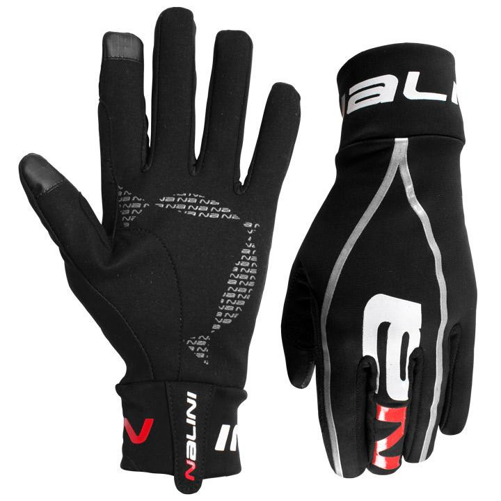 Nalini Mid Pure Black Red Gloves