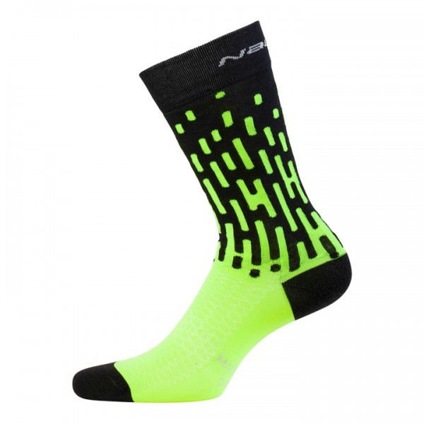 Nalini Fulmine 2.0 H22 Neon Green Black Socks