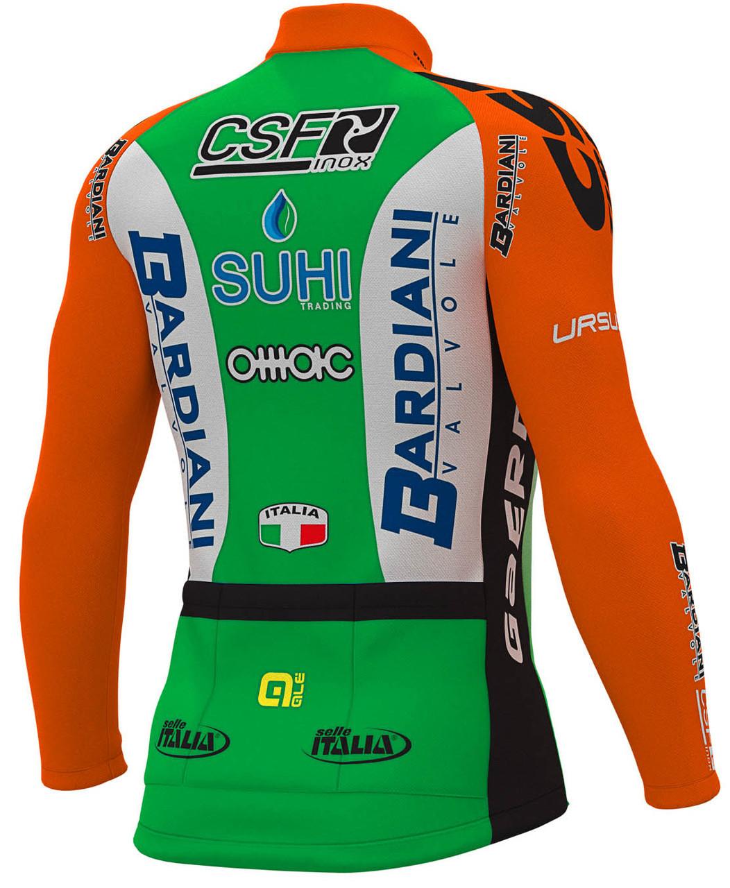 2019 Bardiani CSF Long Sleeve Jersey Rear