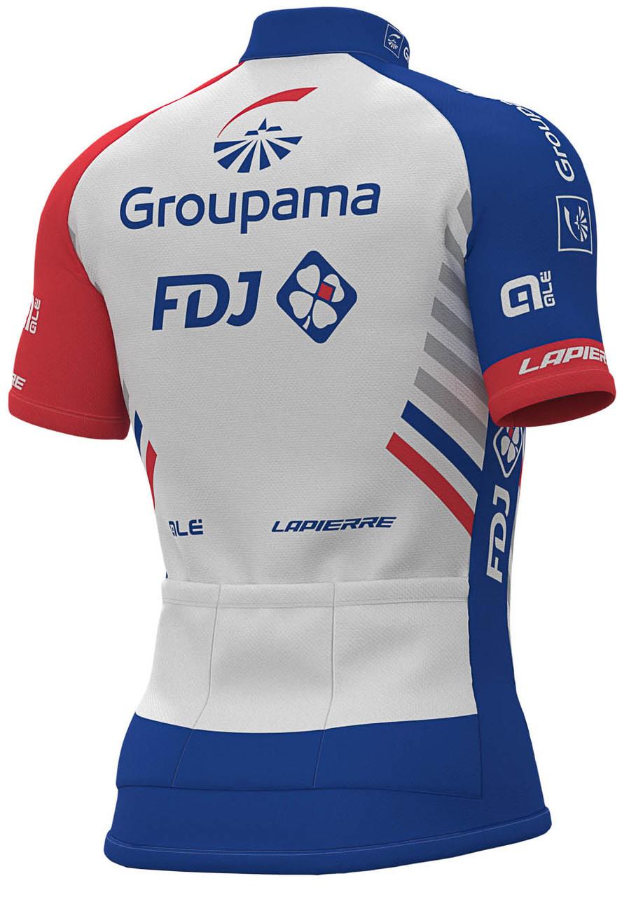 2019 Groupama FDJ Full Zipper Jersey Rear