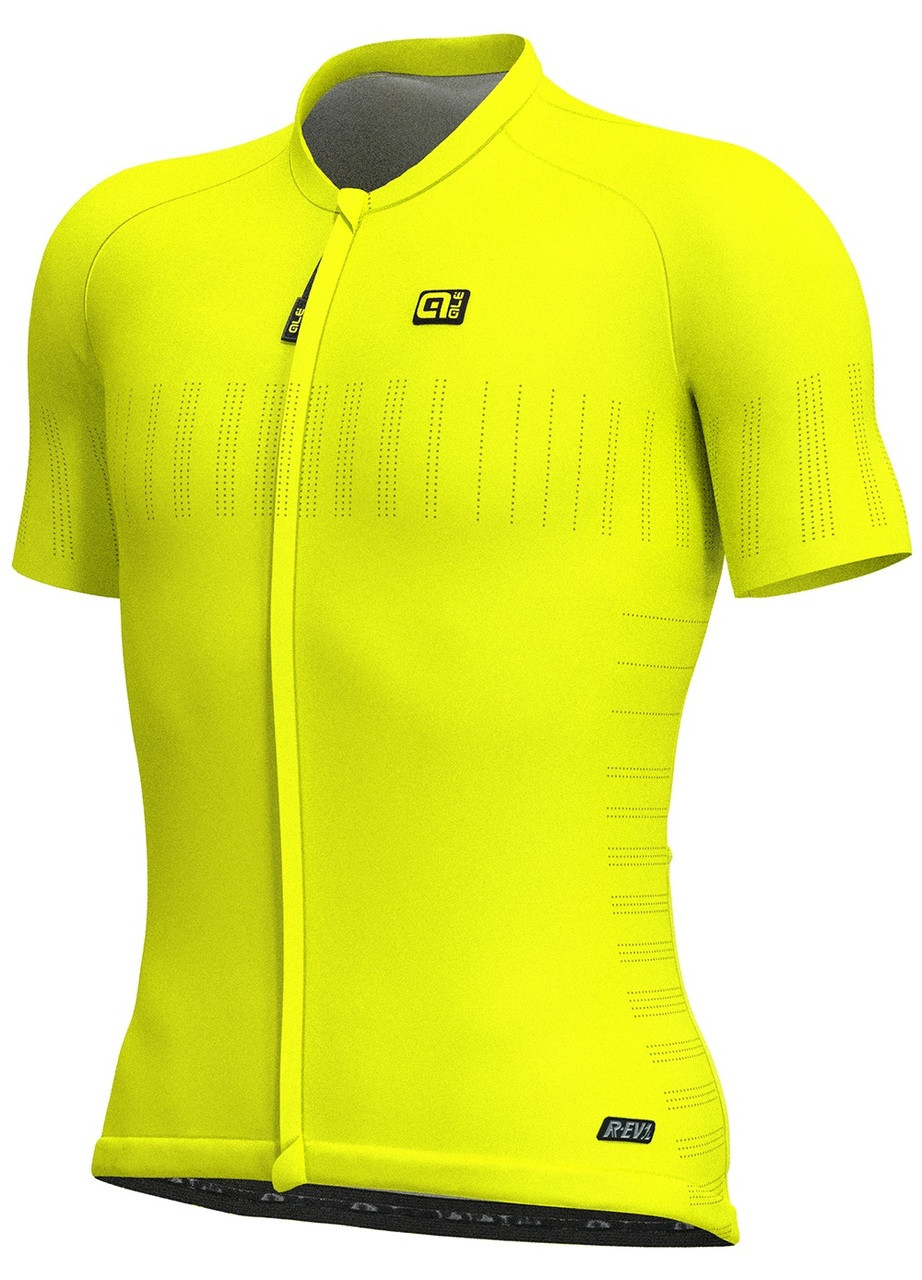f4e391af478 ALE Cooling R-EV1 Yellow Fluo Jersey | italian Cycling Jerseys