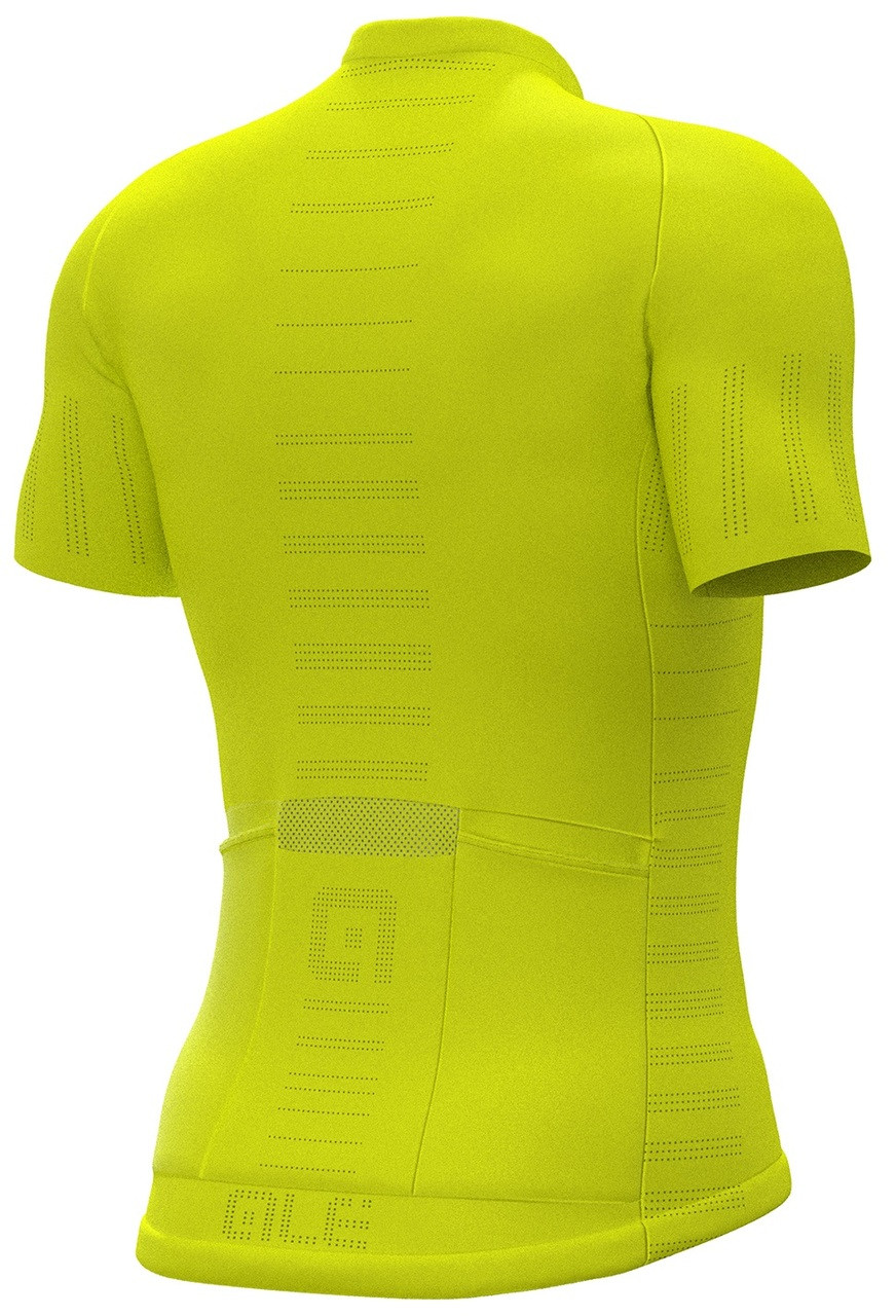 ALE' Cooling R-EV1 Yellow Fluo Jersey Rear