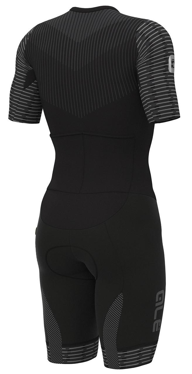 ALE' Fuga Black White Skinsuit Rear