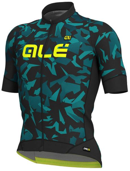 ALE' Glass PRR Black Turquoise Jersey