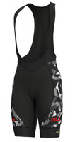 ALE' Glass PRR Black Grey Bib Shorts