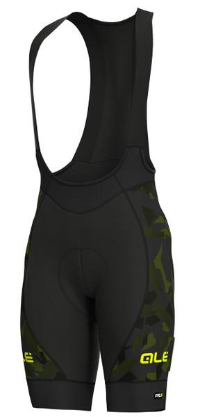 ALE' Glass PRR Black Green Bib Shorts
