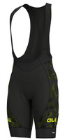ALE' Glass PRR Black Green Bib Shorts