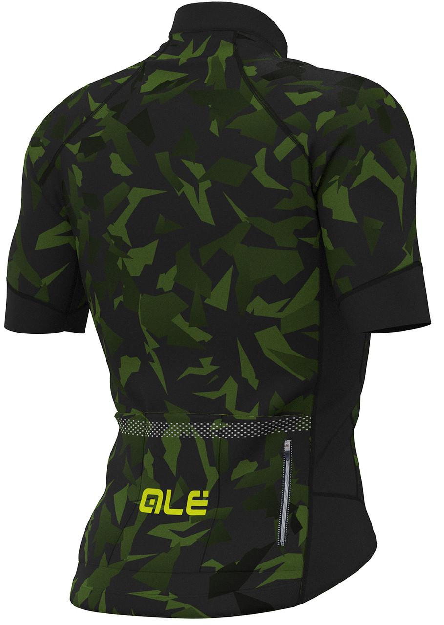 ALE' Glass PRR Black Green Jersey Rear