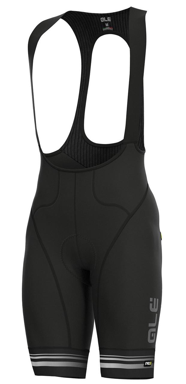 ALE Slide PRR Black White Bib Shorts