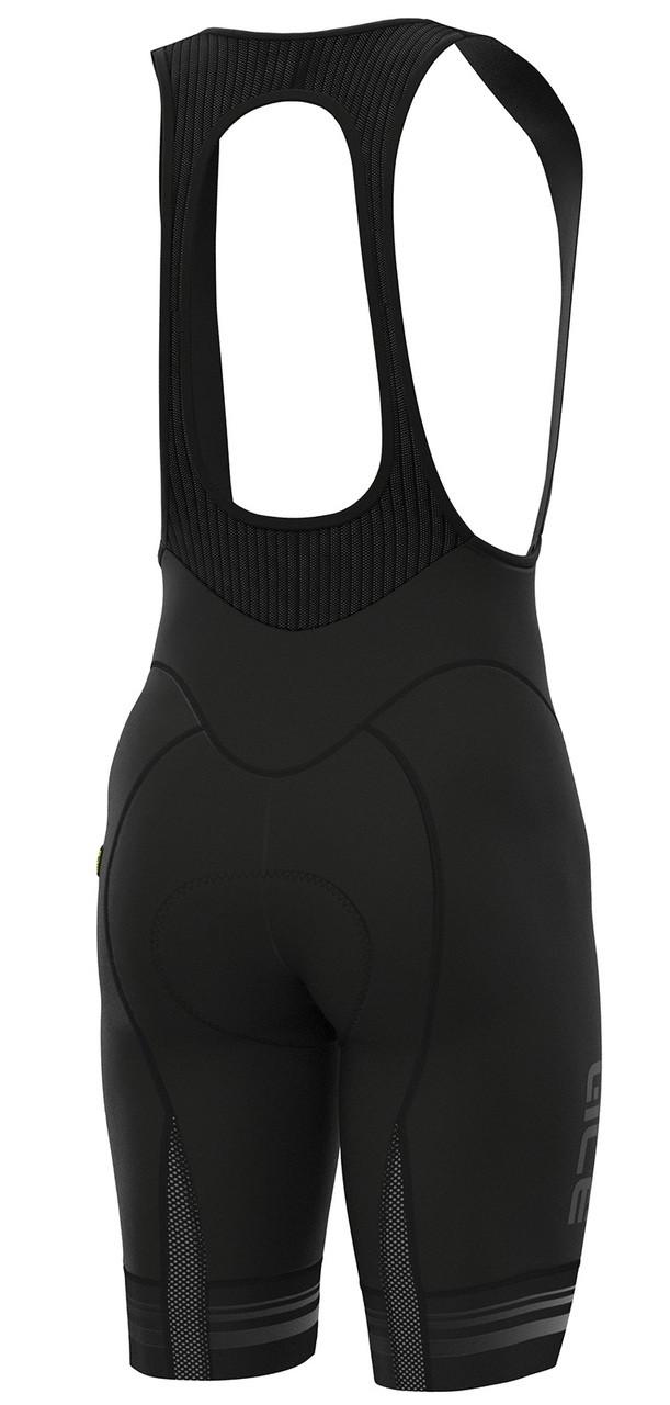 ALE Slide PRR Black White Bib Shorts Rear