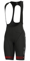 ALE' Slide PRR Black Red Bib Shorts