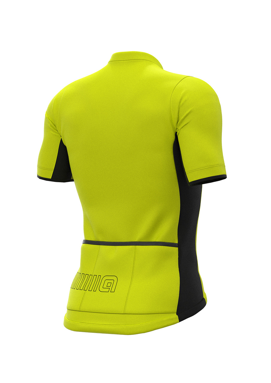 ALE' Color Block Solid Fluo Yellow Jersey  rear