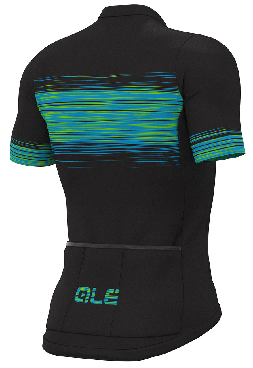 ALE' Start Block Solid Green Jersey  rear