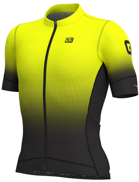 ALE' Dots PRS Black Fluo Yellow Jersey